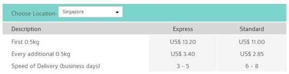 HopShopGo Shipping Rate