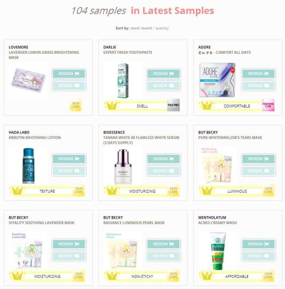 Samplestore web latest sample